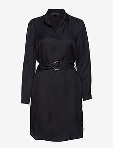 Dresses light woven - skjortekjoler - black