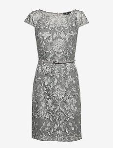 Dresses light woven - midi jurken - silver