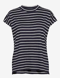 T-Shirts - striped t-shirts - navy