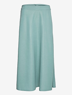 Skirts knitted - midinederdele - dark turquoise