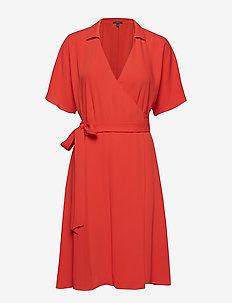 Dresses light woven - skjortekjoler - red orange