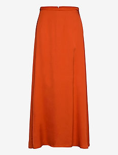 Skirts light woven - maxi skirts - red orange