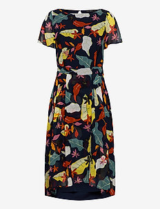 Dresses light woven - midi kjoler - navy 4