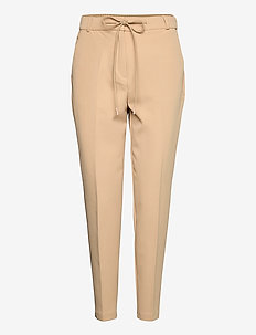 Pants woven - slim fit trousers - beige