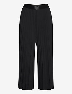 Pants woven - straight leg trousers - black