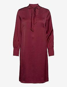 Dresses light woven - midi dresses - bordeaux red