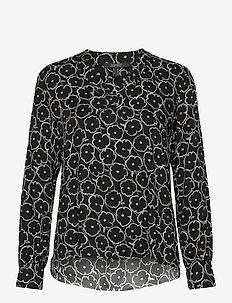 Blouses woven - langermede bluser - black 3