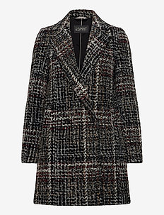 Coats woven - manteaux en laine - black 3