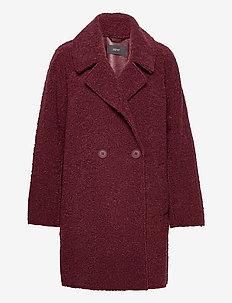 Coats woven - uldfrakker - bordeaux red