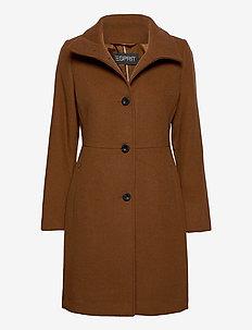 Coats woven - ullkåper - rust brown