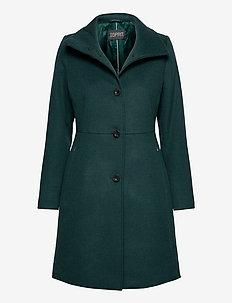 Coats woven - manteaux en laine - bottle green