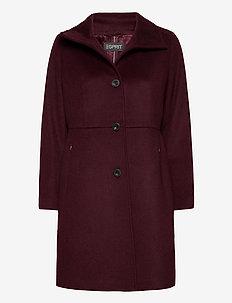Coats woven - manteaux en laine - bordeaux red