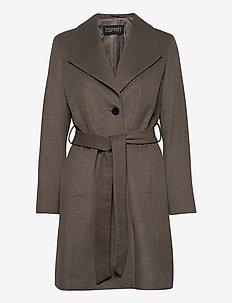 Coats woven - manteaux en laine - light taupe 5