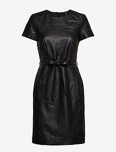 Dresses leather - BLACK