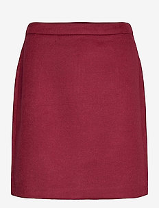 Skirts woven - jupes courtes - bordeaux red