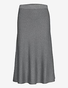 Skirts flat knitted - jupes midi - gunmetal 5