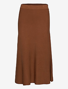 Skirts flat knitted - midi skirts - toffee