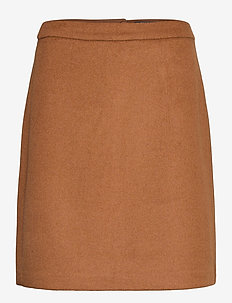 Skirts woven - jupes midi - toffee