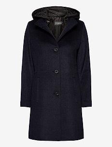 Coats woven - manteaux en laine - navy