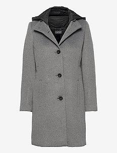 Coats woven - manteaux en laine - gunmetal 5