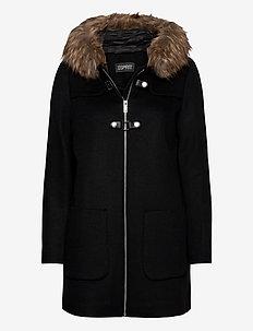 Coats woven - wool coats - black