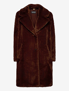 Coats woven - fausse fourrure - rust brown