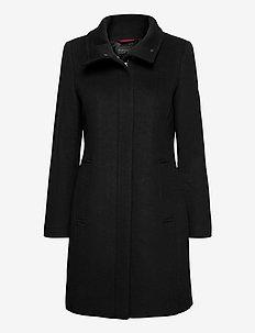 Coats woven - manteaux en laine - black