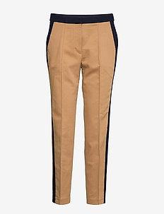 Pants woven - straight leg trousers - camel