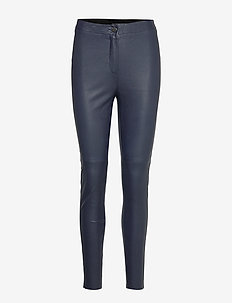 Pants leather - NAVY