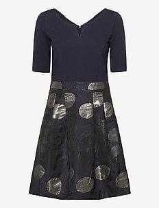 Dresses light woven - midi jurken - navy
