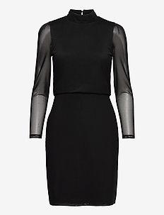 Dresses knitted - robes midi - black