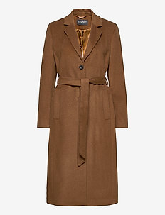 Coats woven - manteaux en laine - rust brown