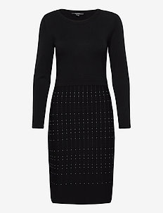 Dresses flat knitted - robes en maille - black 3