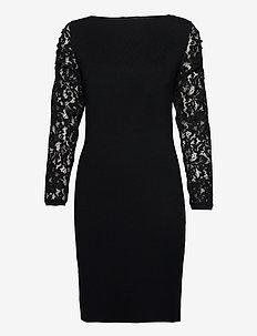 Dresses flat knitted - robes midi - black