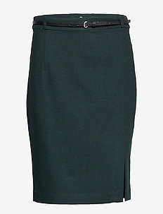 Skirts woven - jupes midi - dark teal green