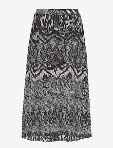 Skirts knitted - midinederdele - black