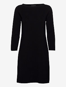 Dresses flat knitted - robes midi - black