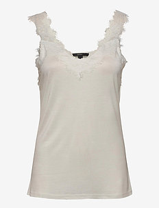 T-Shirts - sleeveless tops - off white