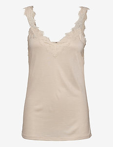 T-Shirts - sleeveless tops - sand