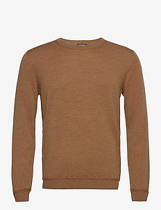 Sweaters - basic knitwear - camel