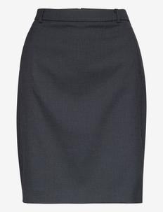 Skirts woven - midinederdele - navy 5