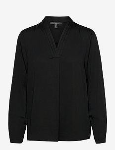 Blouses woven - langermede bluser - black