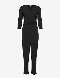 Overalls knitted - jumpsuits - black