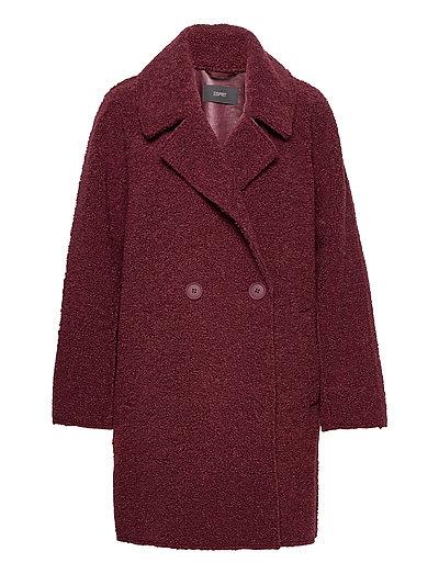 Coats Woven Wollmantel Mantel Rot ESPRIT COLLECTION