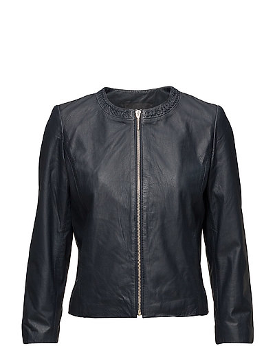 Jackets outdoor leather - NAVY