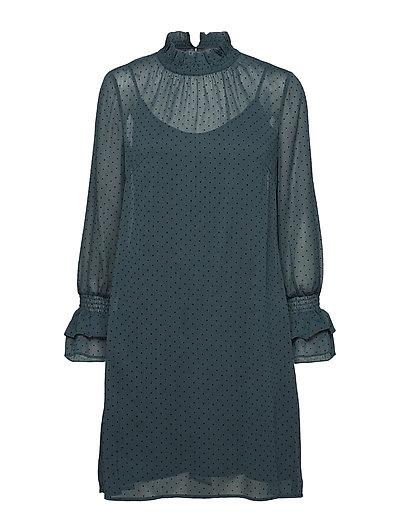 Dresses light woven - BOTTLE GREEN