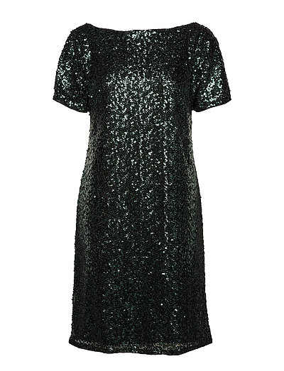 Dresses light woven - DARK TEAL GREEN