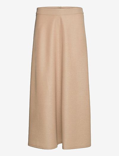 Skirts knitted - midinederdele - beige
