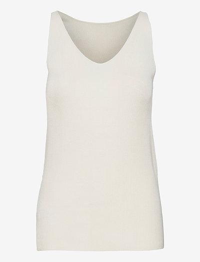 Sweaters - strikveste - off white