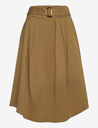 Skirts light woven - midinederdele - bark